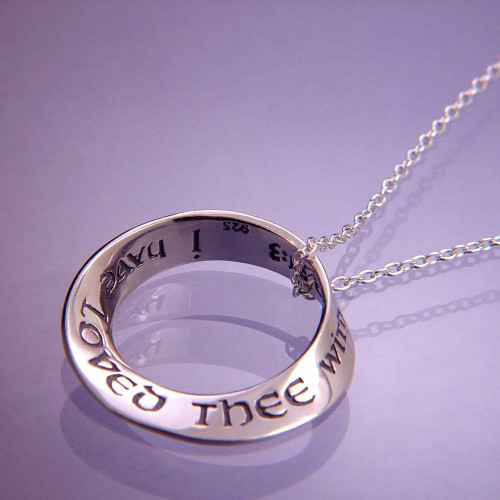 Everlasting Love Sterling Silver Necklace - Inspirational Jewelry Photo