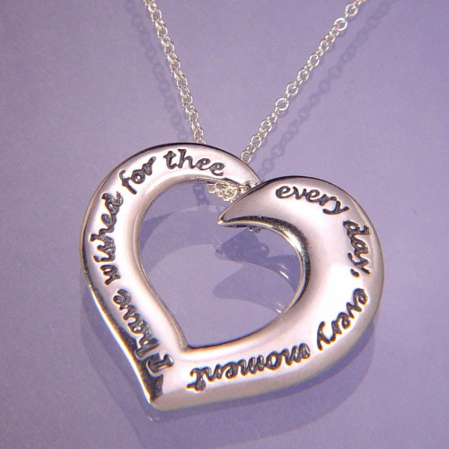 I Have Wished For Thee Sterling Silver Necklace - Inspirational Jewelry Photo