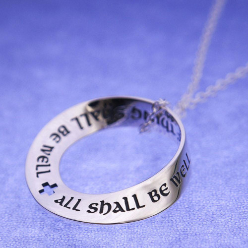 All Shall Be Well Sterling Silver Necklace - Inspirational Jewelry Photo