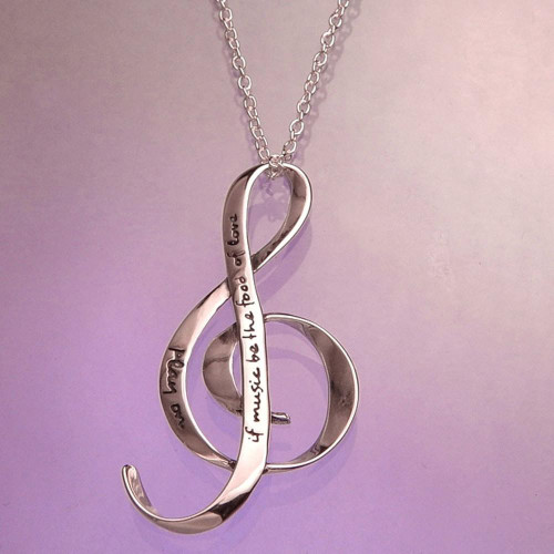 The Food Of Love Sterling Silver Necklace - Inspirational Jewelry Photo