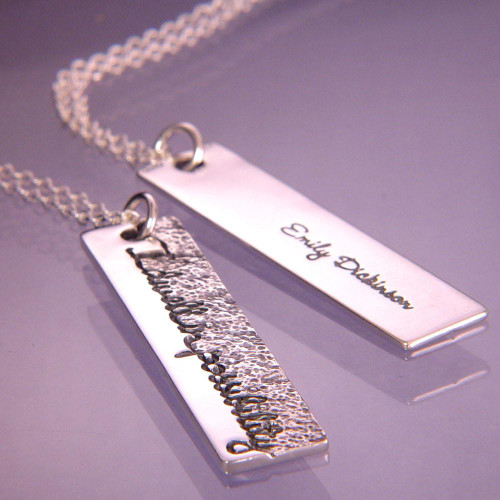Dwell In Possibility Sterling Silver Necklace - Inspirational Jewelry Photo