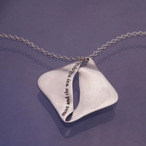 Zen Proverb Sterling Silver Necklace - Inspirational Jewelry Photo