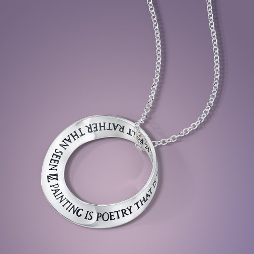 Painting is Poetry Sterling Silver Necklace - Inspirational Jewelry Photo