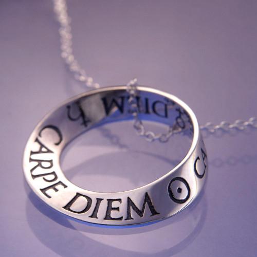 Carpe Diem Sterling Silver Necklace - Inspirational Jewelry Photo