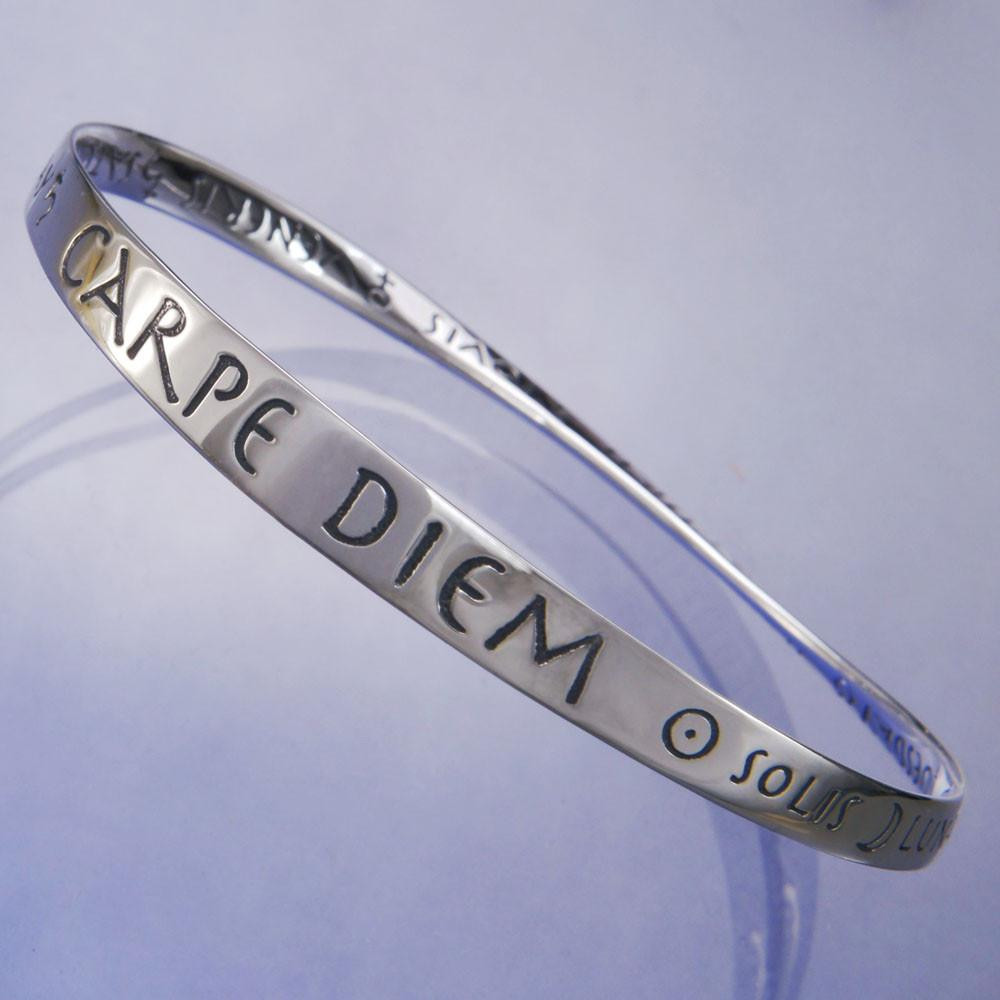 Seize The Day Sterling Silver Bracelet - Inspirational Jewelry Photo 603c50988f