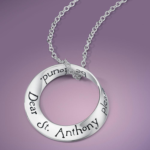 St. Anthony Sterling Silver Necklace - Inspirational Jewelry Photo