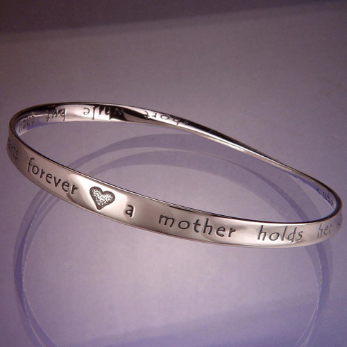 Hearts Forever Sterling Silver Bracelet - Inspirational Jewelry Photo