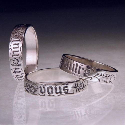 French: You And No Other - Vous et nul autre - Sterling Silver Ring - Inspirational Jewelry Photo