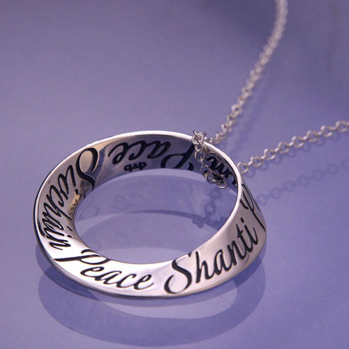 Peace Sterling Silver Necklace - Inspirational Jewelry Photo