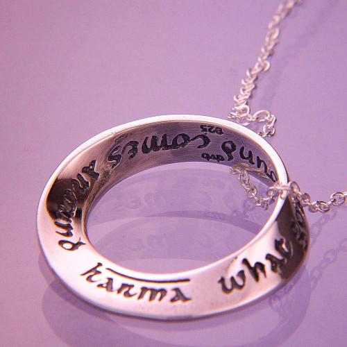 Karma Sterling Silver Necklace - Inspirational Jewelry Photo