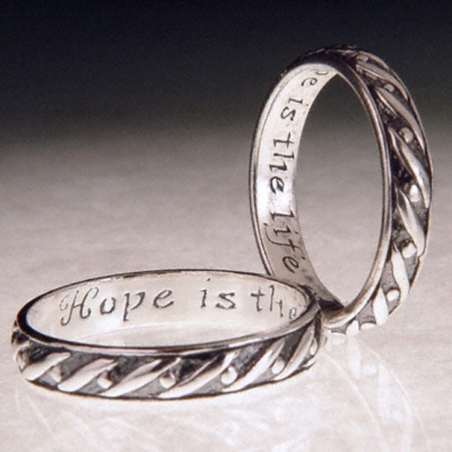 English: Hope Sterling Silver Ring - Inspirational Jewelry Photo