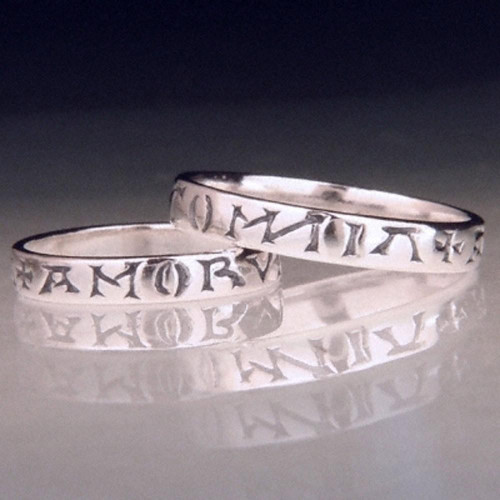 Latin: Love Conquers All Sterling Silver Ring - Inspirational Jewelry Photo