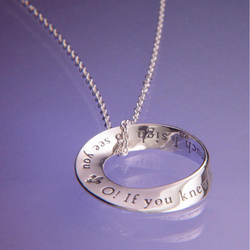 O! I Sigh To See You Sterling Silver Necklace - Inspirational Jewelry Photo