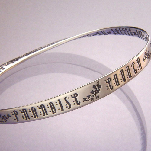 Paradise Enough Sterling Silver Bracelet - Inspirational Jewelry Photo