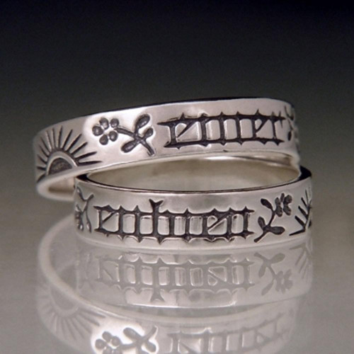 French: Encircle With Love Sterling Silver Ring - Inspirational Jewelry Photo