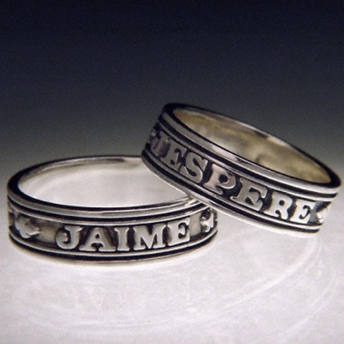 French: I Love And I Hope Sterling Silver Ring - Inspirational Jewelry Photo