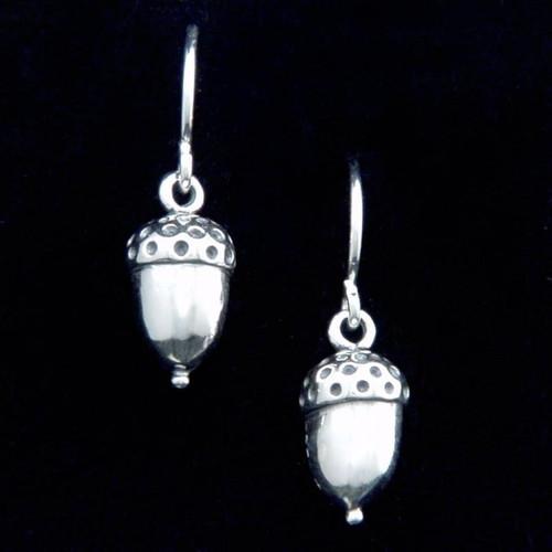 Acorn Sterling Silver Earrings - Inspirational Jewelry Photo