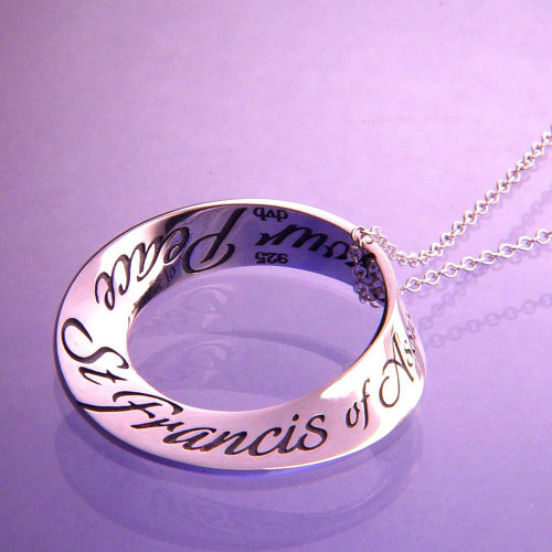 St. Francis' Prayer Sterling Silver Necklace - Inspirational Jewelry Photo