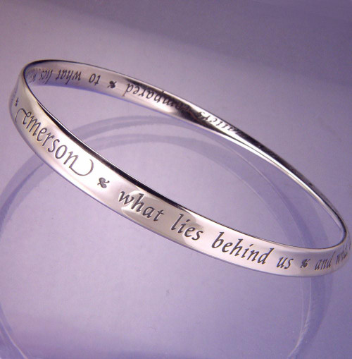 What Lies Within Sterling Silver Bracelet - Inspirational Jewelry Photo