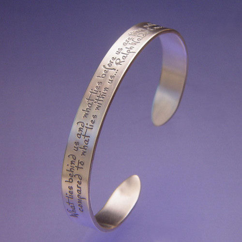 What Lies Within Sterling Silver Cuff - Inspirational Jewelry Photo