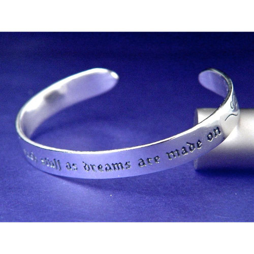 We Are Such Stuff Sterling Silver Cuff - Inspirational Jewelry Photo