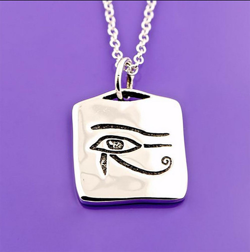 Eye of Horus Sterling Silver Necklace - Inspirational Jewelry Photo
