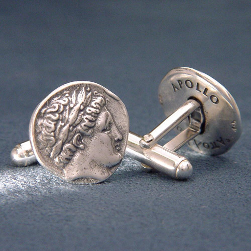 Apollo Sterling Silver Cuff Links - Greek Jewelry