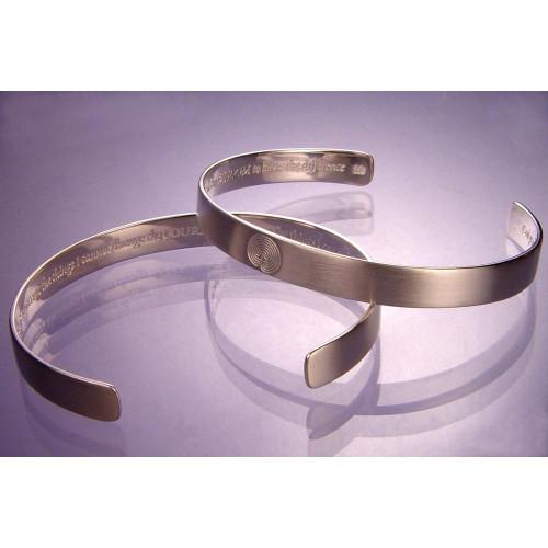 Serenity Prayer Sterling Silver Large Cuff - Inspirational Jewelry Photo