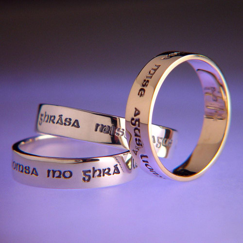 Gaelic: I Am My Beloved's Sterling Silver Ring - Inspirational Jewelry Photo