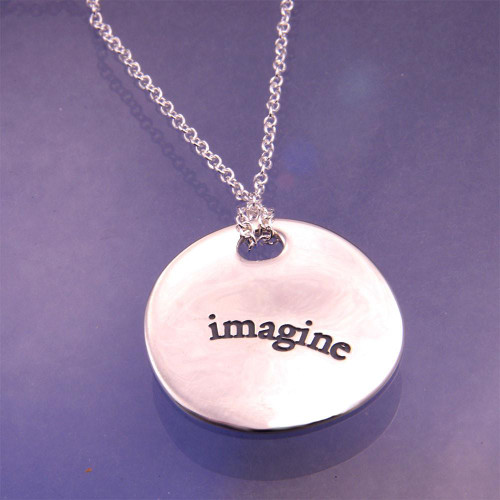 Imagine Sterling Silver Necklace - Inspirational Jewelry Photo