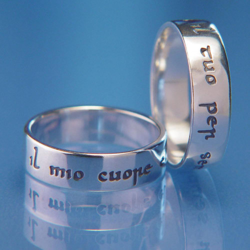 Italian: Yours Forever Sterling Silver Ring - Inspirational Jewelry Photo