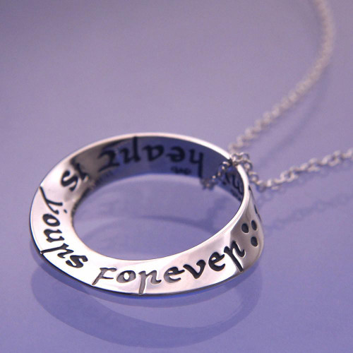 Yours Forever Sterling Silver Necklace - Inspirational Jewelry Photo