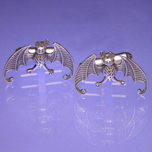 Bat Sterling Silver Cuff Links - Inspirational Jewelry Photo