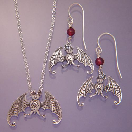 Bat Sterling Silver Earrings - Inspirational Jewelry Photo
