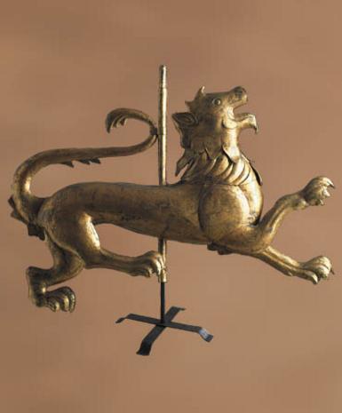 Lion Weathervane Trade Sign - Photo Museum Store Company