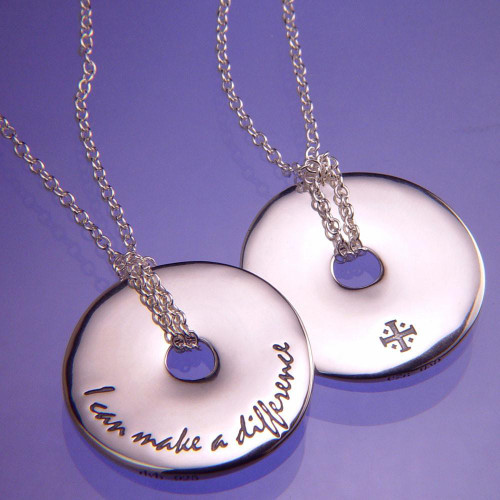 I Can Make A Difference Sterling Silver Necklace - Inspirational Jewelry Photo