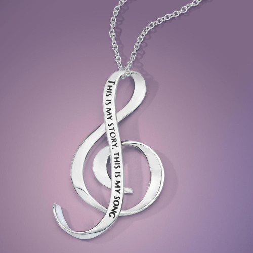 This Is My Story, This Is My Song Sterling Silver Necklace - Inspirational Jewelry Photo