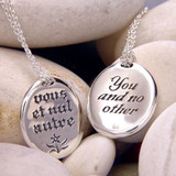 You And No Other Sterling Silver Necklace - Inspirational Jewelry Photo