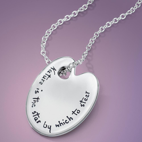 Thomas Cole Palette Sterling Silver Necklace - Inspirational Jewelry Photo