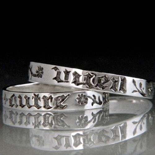 French: No One But You Sterling Silver Ring - Inspirational Jewelry Photo