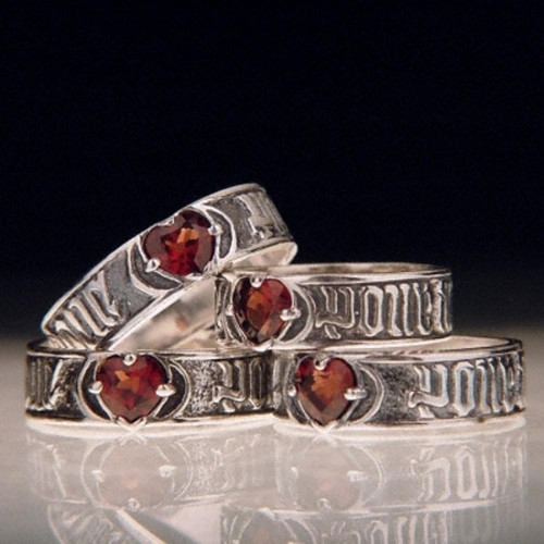 French: For Love So Sweet Sterling Silver Ring - Inspirational Jewelry Photo