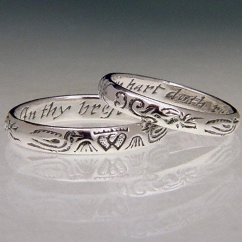 English: My Heart Doth Rest Sterling Silver Ring - Inspirational Jewelry Photo