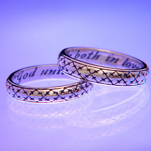 English: Unite In Love Sterling Silver Ring - Inspirational Jewelry Photo