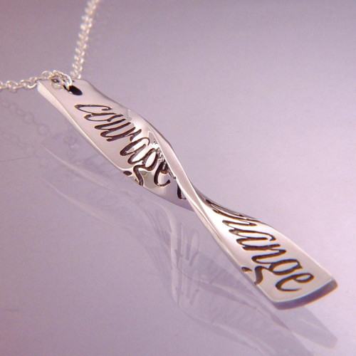 Courage To Change Sterling Silver Necklace - Inspirational Jewelry Photo