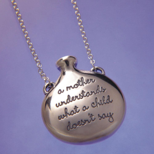 A Mother Understands Sterling Silver Necklace - Inspirational Jewelry Photo