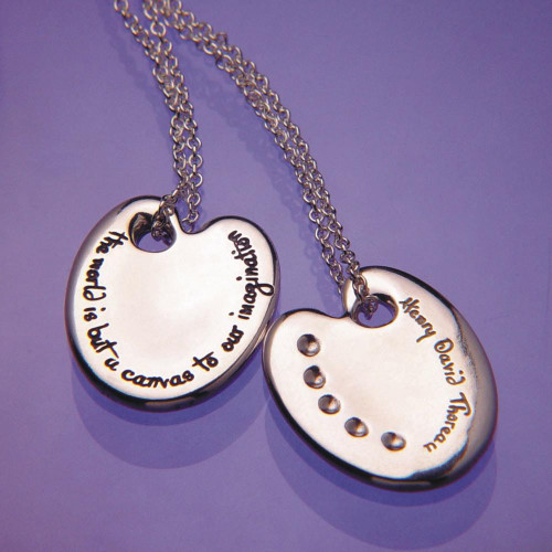 Thoreau Palette Sterling Silver Necklace - Inspirational Jewelry Photo