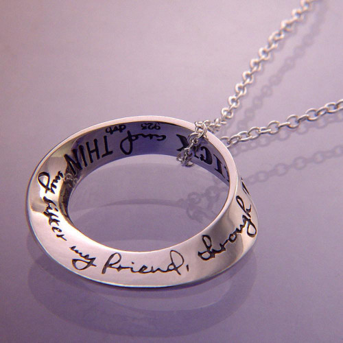 My Sister, My Friend Through Thick And Thin Sterling Silver Necklace - Inspirational Jewelry Photo