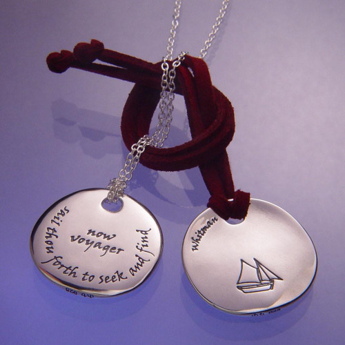 Seek And Find Sterling Silver Necklace - Inspirational Jewelry Photo
