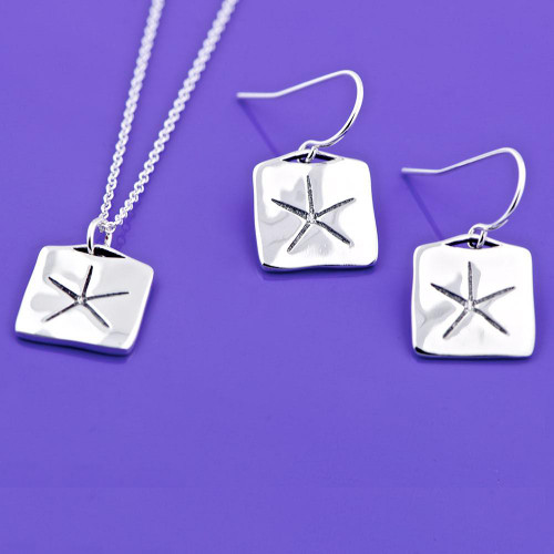 Egyptian Star Sterling Silver Earrings - Inspirational Jewelry Photo