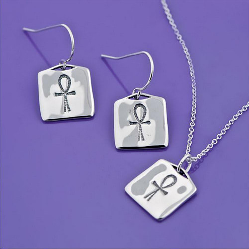 Ankh Sterling Silver Earrings - Inspirational Jewelry Photo